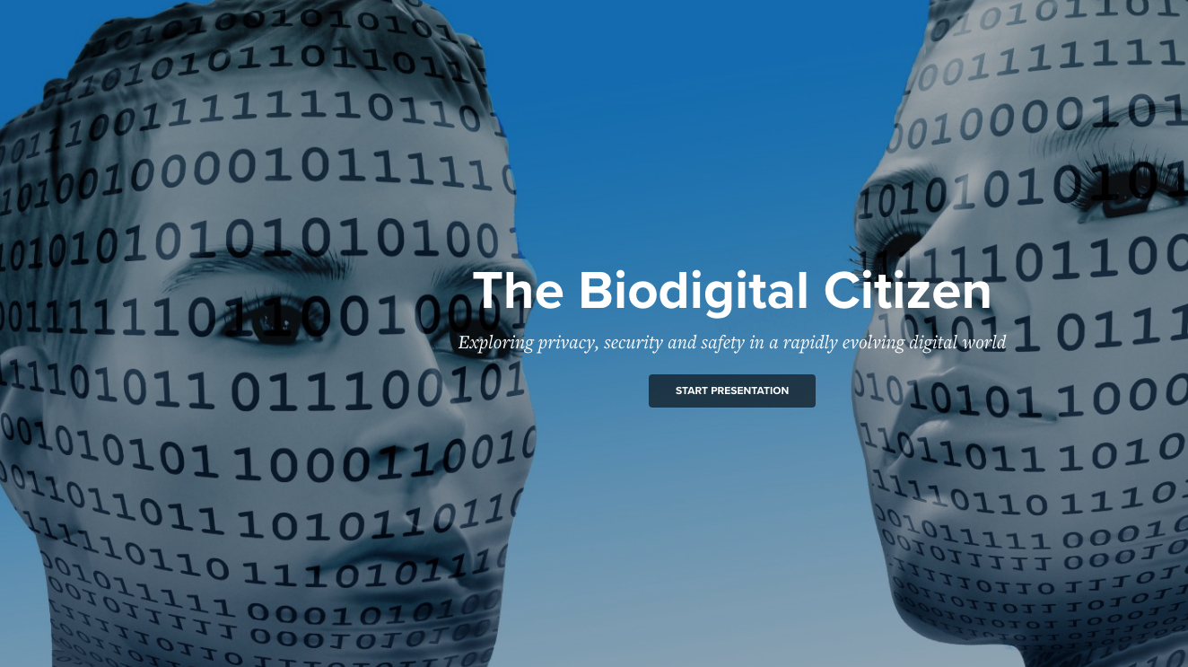 The Biological Citizen assignment cover page